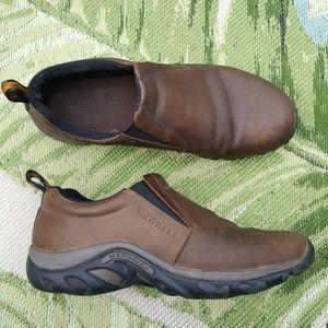 Men's Merrell Jungle Moc Brown Leather Shoes 10.5